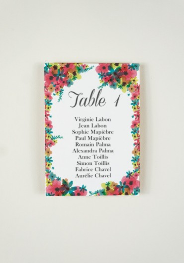 Plan de Table - Lovely Day