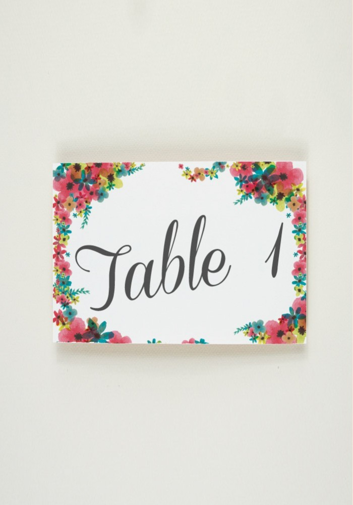 Nom de Table - Lovely Day
