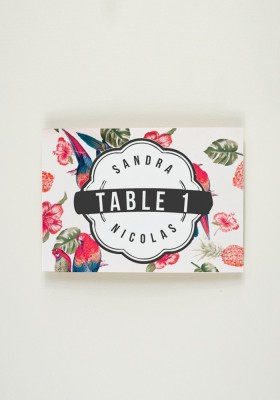 Nom de Table - Tropical Fever