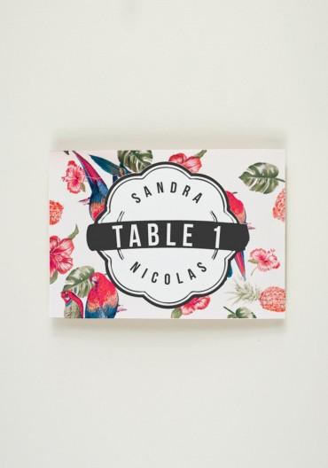 Nom de Table - Tropical Fever