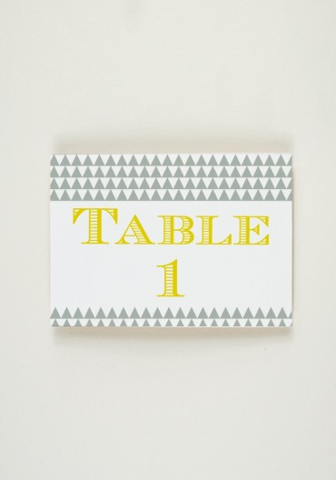 Nom de Table - Black Mamba