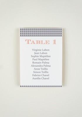 Plan de Table - Black Mamba