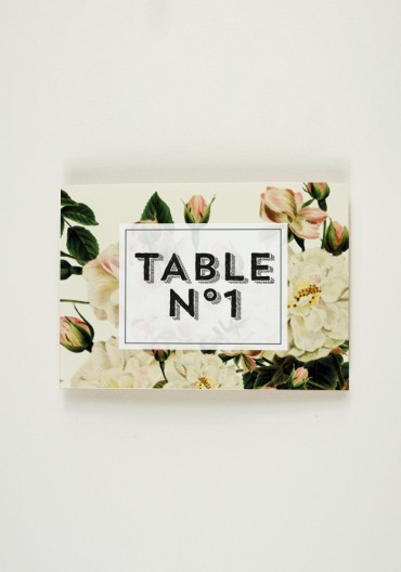 Nom de Table - Botanic