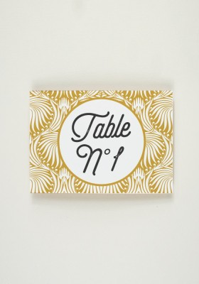 Nom de Table - Art Nouveau