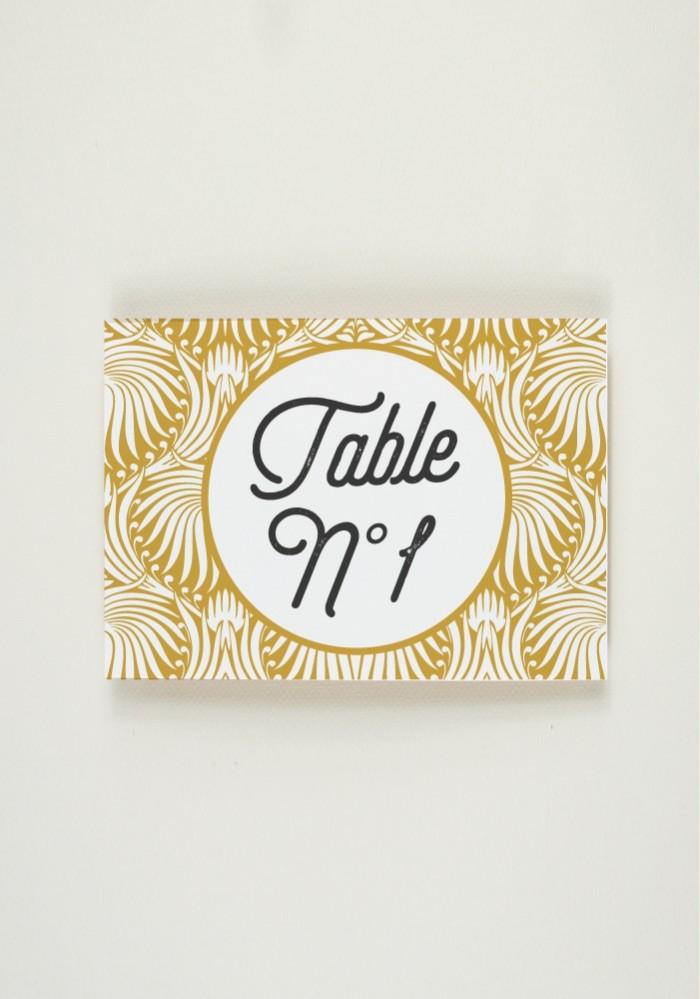 Nom de Table - Art Nouveau