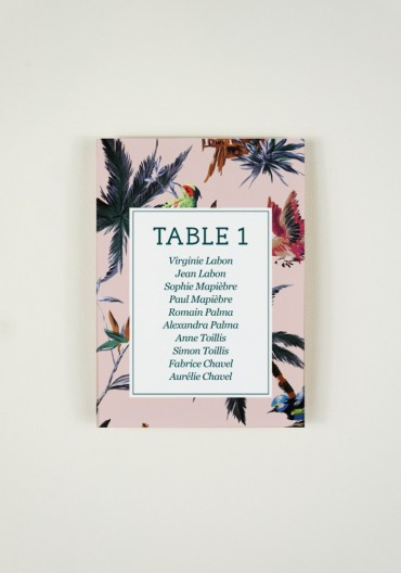 Plan de Table - Birds of Love