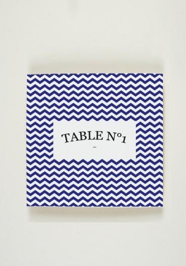 Nom de Table - Quelque chose de bleu