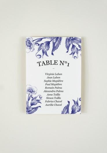 Plan de Table - Quelque chose de bleu