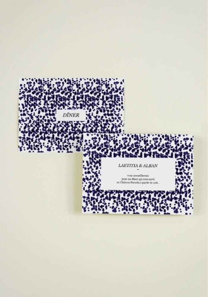 Carton  supplementaire - Quelque chose de bleu