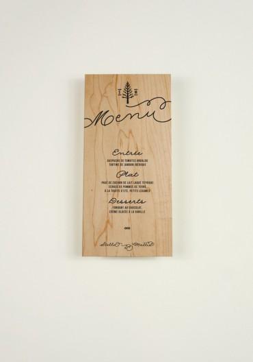 Menu - Love in da Wood