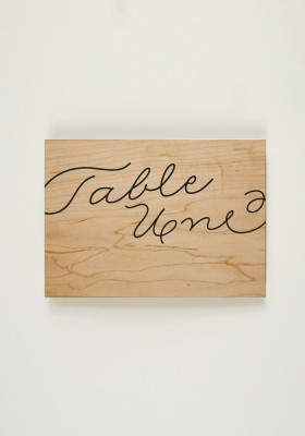 Nom de Table - Love in da Wood