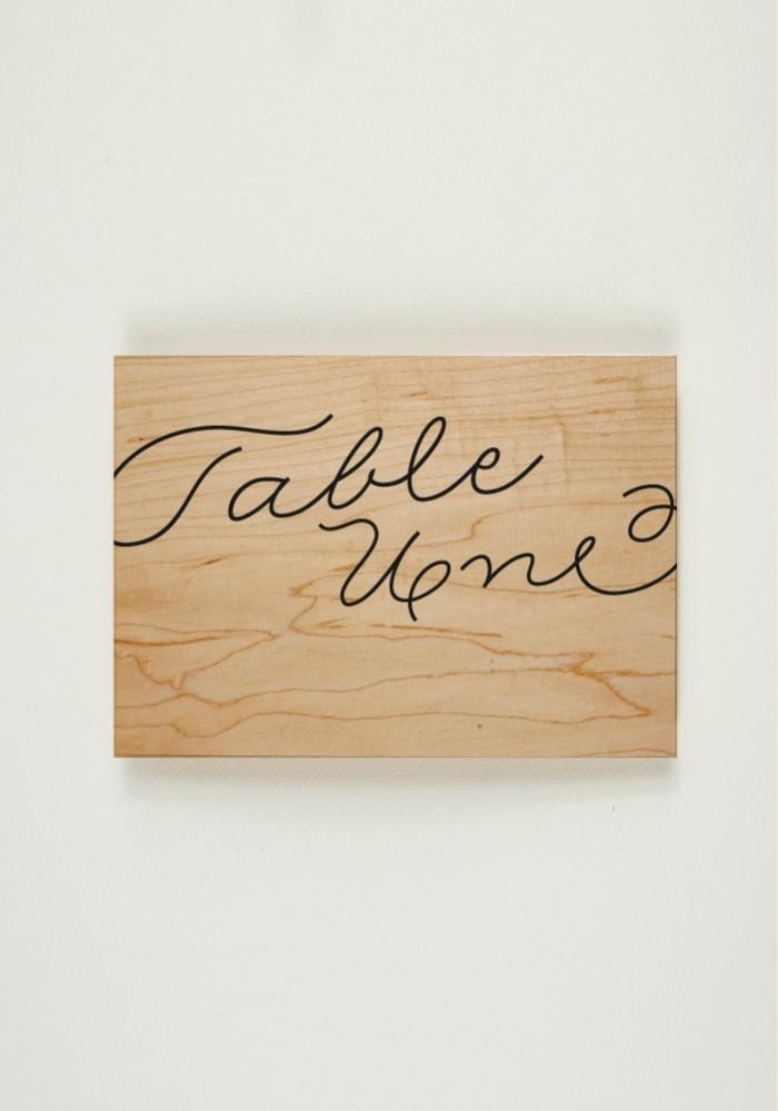Nom de Table - Love in da Wood