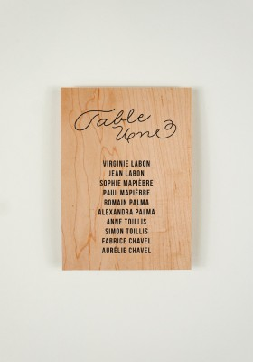 Plan de Table - Love in da Wood