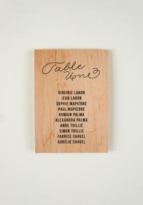 Plan de Table - Love in da Wood