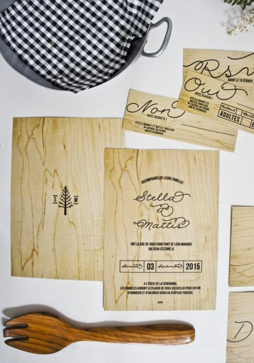Faire Part - Love in da Wood