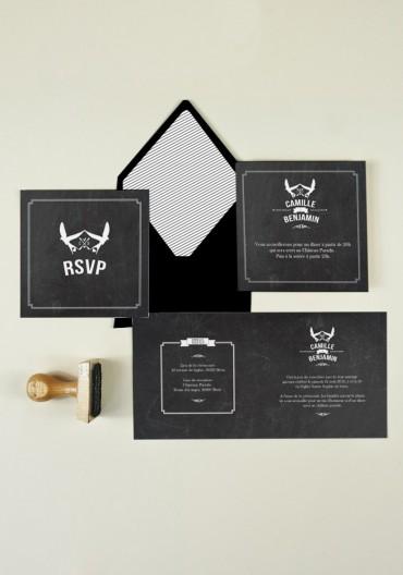 Wedding Pack - Faire-part + Carton + RSVP