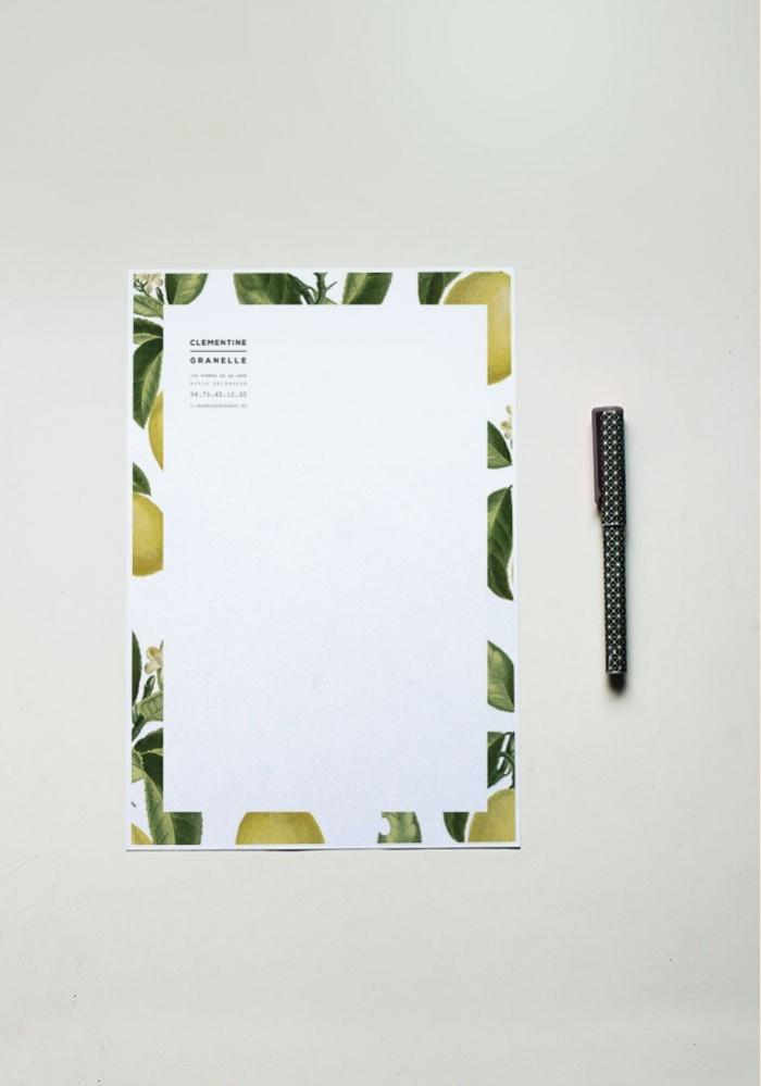 Papier à lettre - N°1