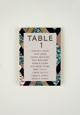 Plan de Table - Tribe