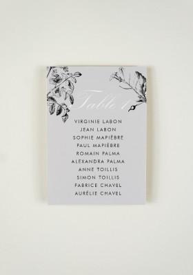 Plan de Table - Fleurs Sauvages