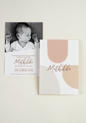 Birth announcement - Shape